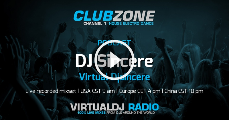 Dj Sincere - Virtual Djsincere | September 8th 2019 - 14 UTC